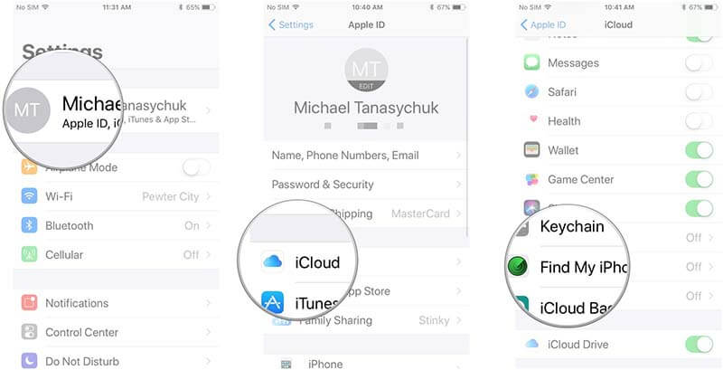 enable-find-my-iphone
